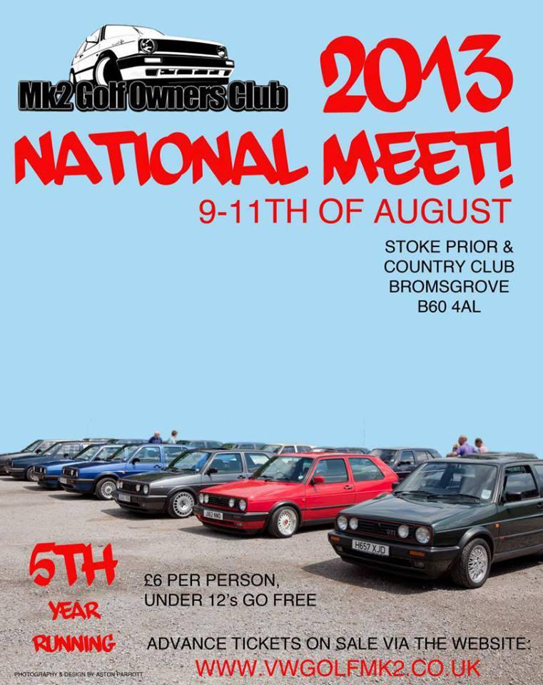 mk2 golf owners club national meet 2013 calendar